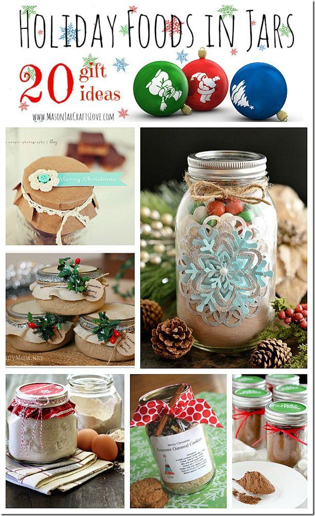 Holiday Gifts: Food in Jars | Mason Jar Crafts Love. Not just Christmas many other Mason Jar idea