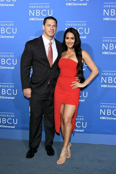 Nikki Bella Photos Photos - John Cena (L) and Nikki Bella attend the 2017 NBCUniversal Upfront at Radio City Music Hall on May 15, 2017 in New York City. - 2017 NBCUniversal Upfront