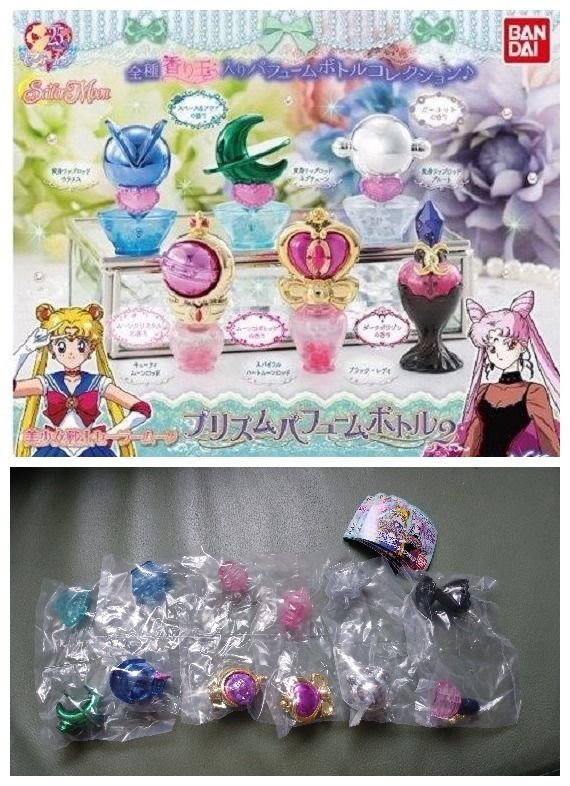 BANDAI Bishoujo Senshi Sailor Moon Prism Perfume Bottle 2 Figure Gashapon x6 #BANDAI