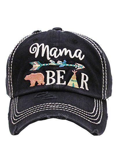 08630a64a1d KB Adjustable Aztec Arrow Tepee Mama Bear Womens Vintage Hat Cap ...