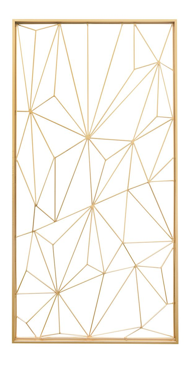 Covered in gorgeous geometric design, this decorative gem will easily elevate any bare slice of wall space. Made from lustrous gold-finished metal, this open-faced Geode Wall Decoration offers a modern... Find the Geode Wall Decoration in Gold, as seen in the Décor Collection at http://dotandbo.com/category/decor-and-pillows/for-the-wall/decor?utm_source=pinterest&utm_medium=organic&db_sku=124691