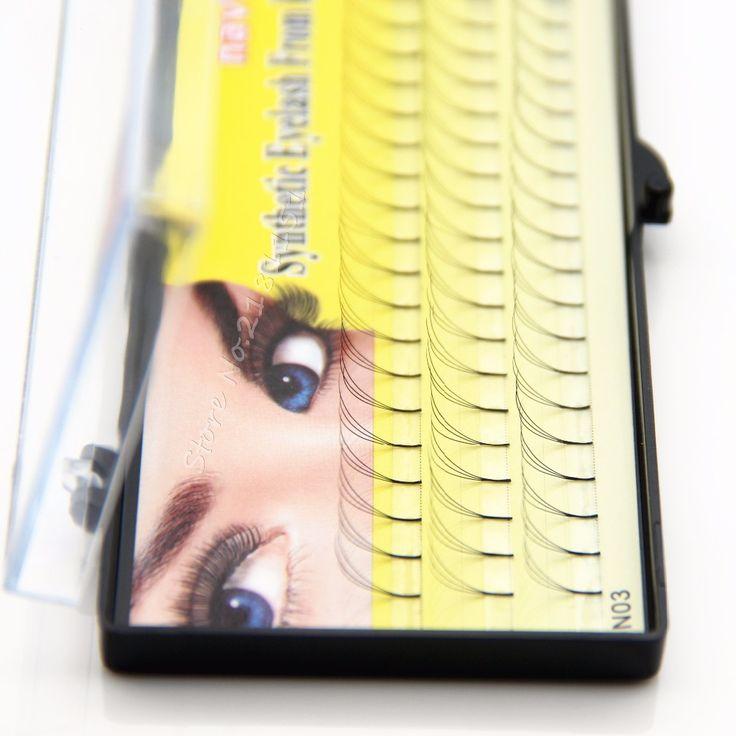 НАВИНА Super soft 3D eyealsh 60 Кластеров Профессиональный Макияж Индивидуальный Прививка Накладные Ресницы Кластера Ресницы Бесплатная доставка