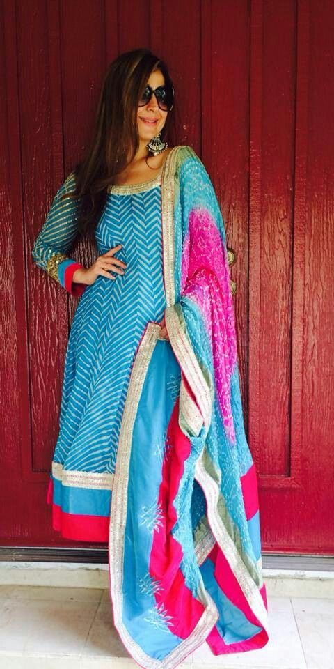 Nice collection frn grand trunk like the kameez print with the bandhani duputta