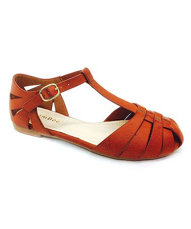 Look at this #zulilyfind! Tan Closed-Toe Sandal by Bamboo #zulilyfinds