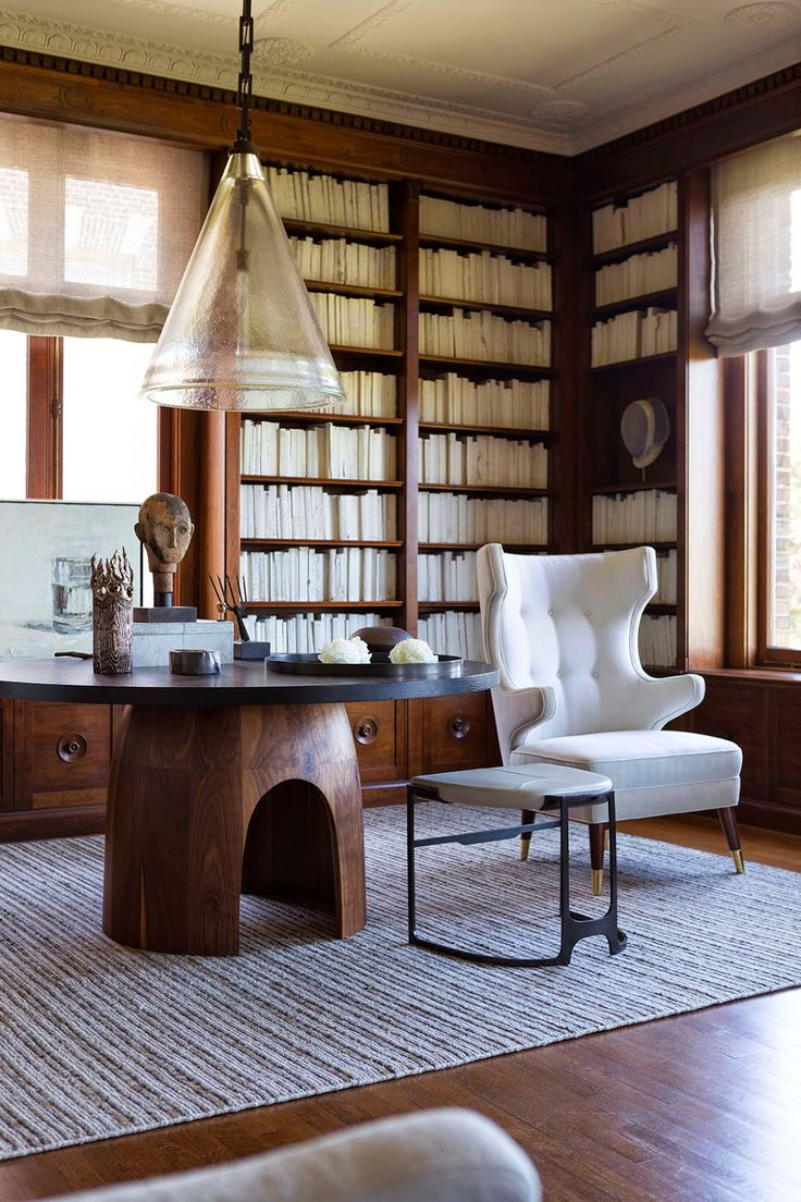 Beautiful, Classical Library with Electronic Cool by San Francisco Designer, Geoffrey De Sousa