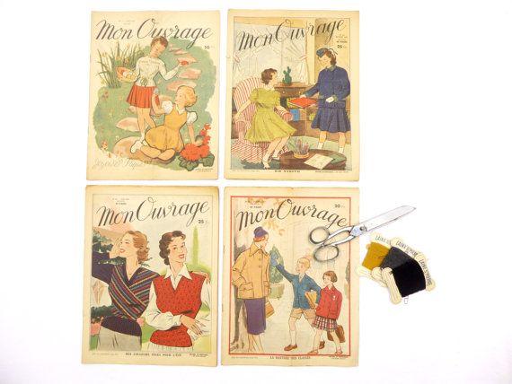 Magazines vintage français 1940-50 Mon par LeGrenierDeFrancine