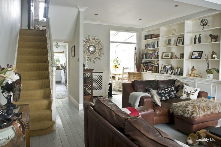 Living room, Wooden floor, Stairs