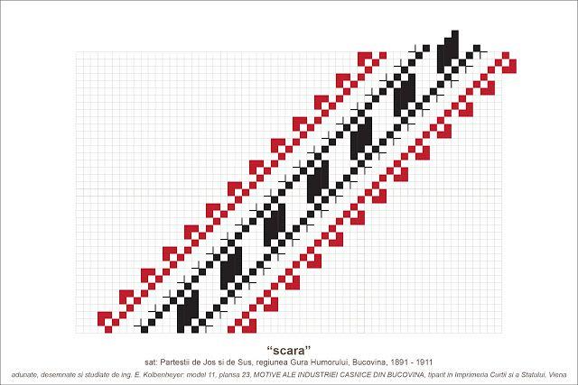 Semne Cusute: MOTIVE: scara (P23, M11)