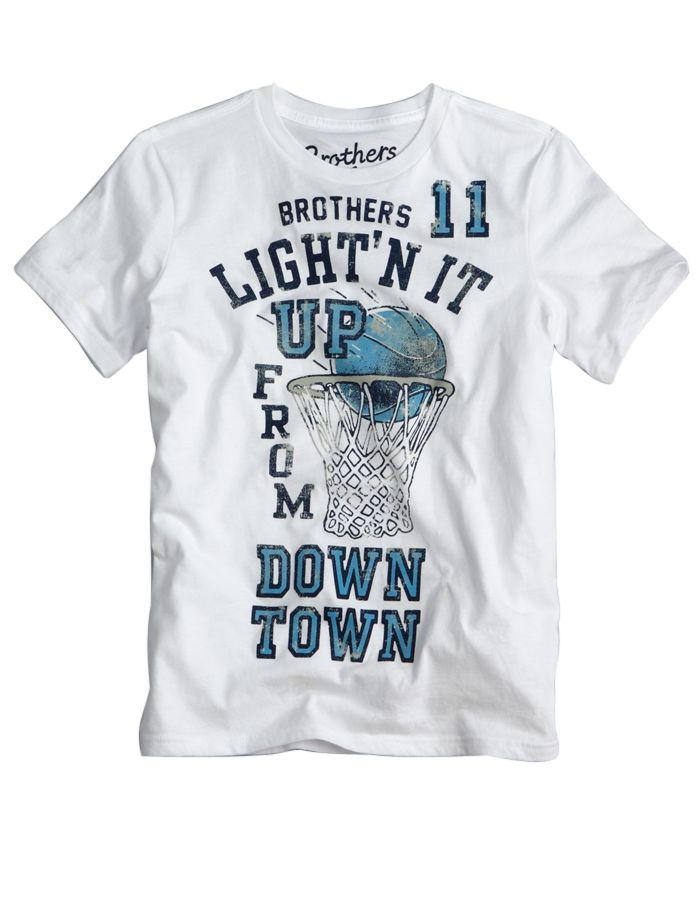"Brothers ""Ligh'n it up from downtown"" t shirt #Justice #basketball"