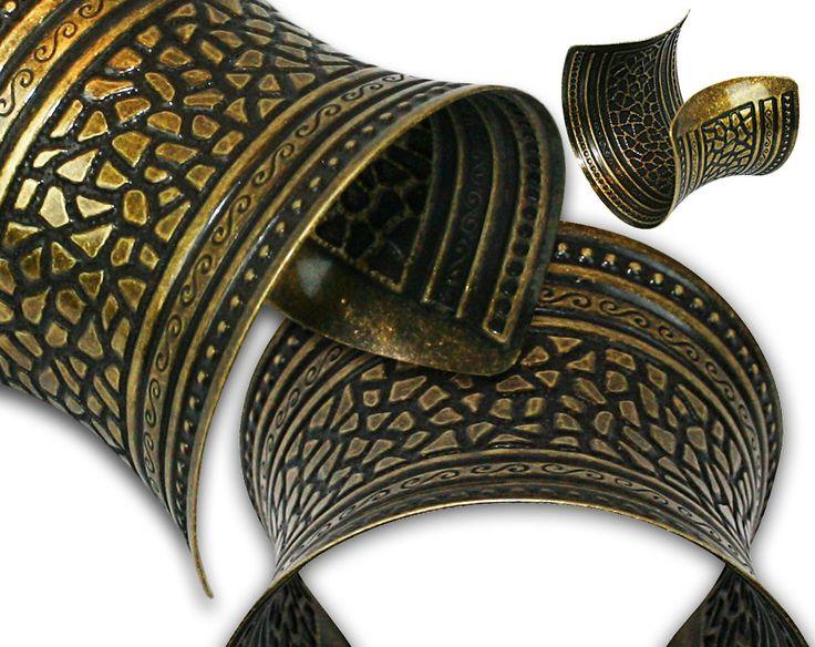 Bronze Tribal Belly Dance Cuff Bracelet