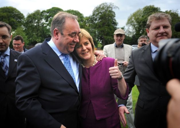 SNP leader Alex Salmond and deputy Nicola Sturgeon after the 2011 election. Picture: Jane Barlow