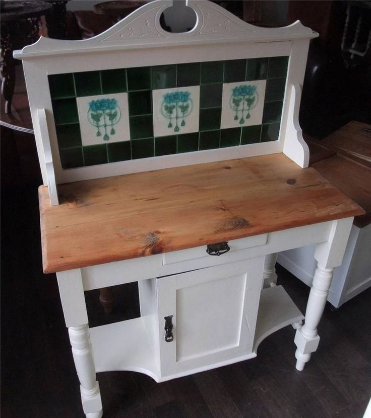 Shabby Chic Painted Wash Stand Viewings Welcomed At: Big Yorkshire Furniture  3/5 Wharf