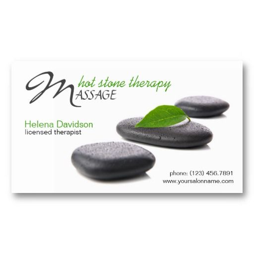 22 best business cards for massage therapists images on pinterest lastone hot stone massage day spa business card cheaphphosting Image collections