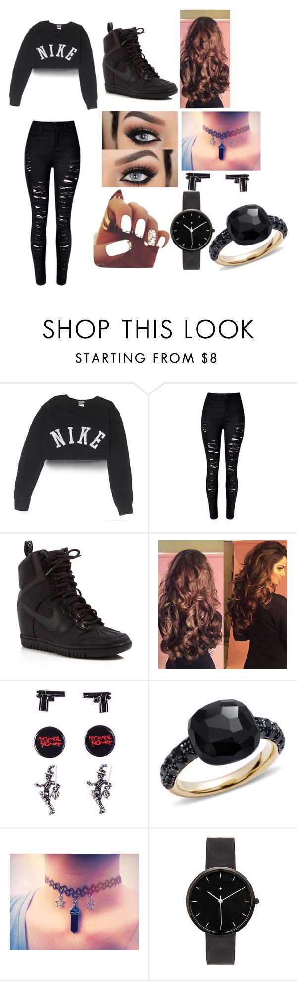 """I'm Bored On The Internet, Can Someone Entertain Me?"" by aiyanastewart on Polyvore featuring NIKE, Pomellato and I Love Ugly"