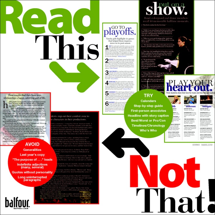 newspaper layout terms
