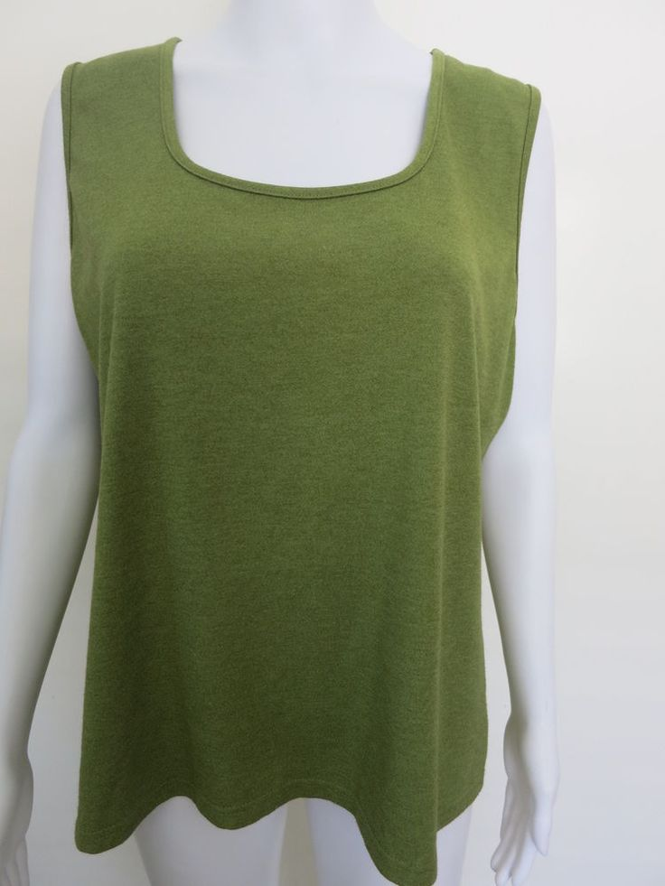 GEOFF BLAD Ladies Top Size 18 Green Sleeveless #GeoffBlade #TankCami #EveningOccasionCasual