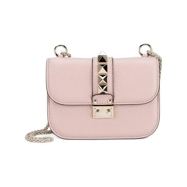 Valentino Garavani 'Glam Lock' shoulder bag,  Rosa/Lila, Leder/Metall/Wildleder #valentino #bag