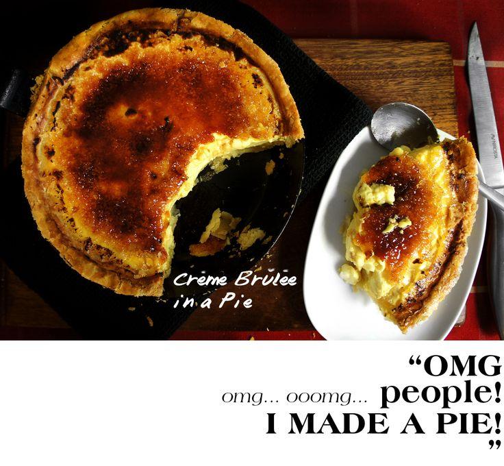 Creme Brulee in a Pie | Baking Blitz | Pinterest