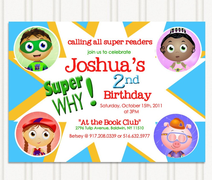 11 super why party ideas super why