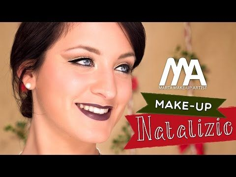 Makeup Sera di Natale 2014 | Come truccarsi con lo scotch | Marta Make-up Artist - YouTube