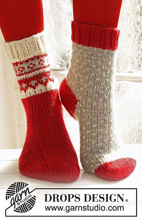 Knitting Socks Design : Ravelry christmas socks in karisma pattern by drops