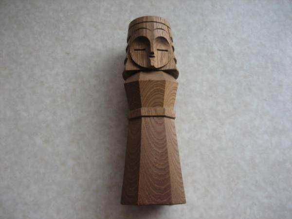 ■ 木彫 ニポポ人形 1体 網走刑務所 昭和時代に購入 ■_画像1
