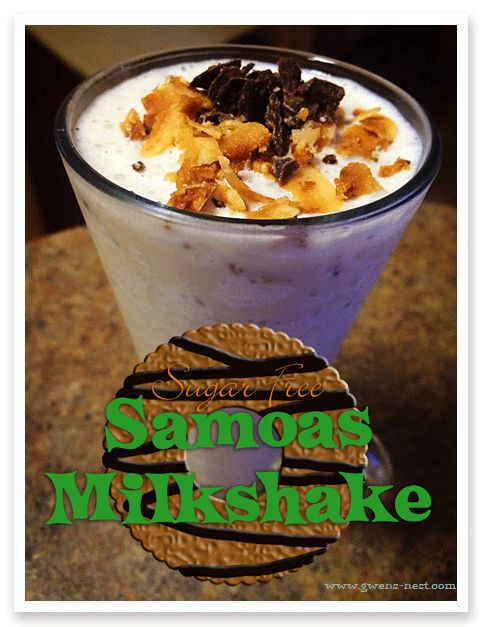 "Low Carb Caramel ""Samoas"" Milkshake (S)"