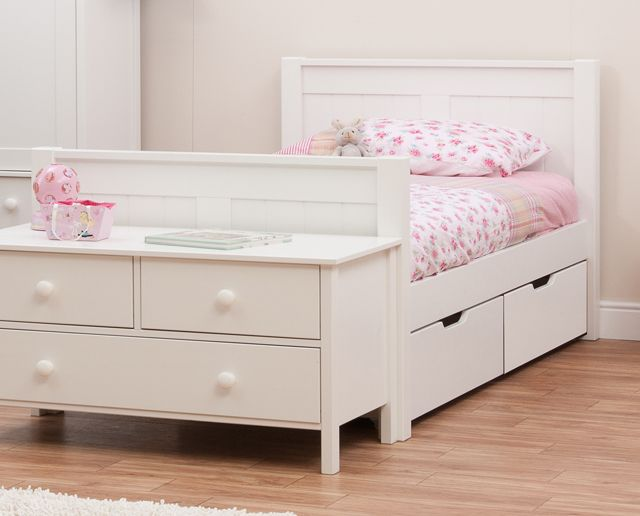 Classic Single Bed With Underbed Drawers By Stompa Bed