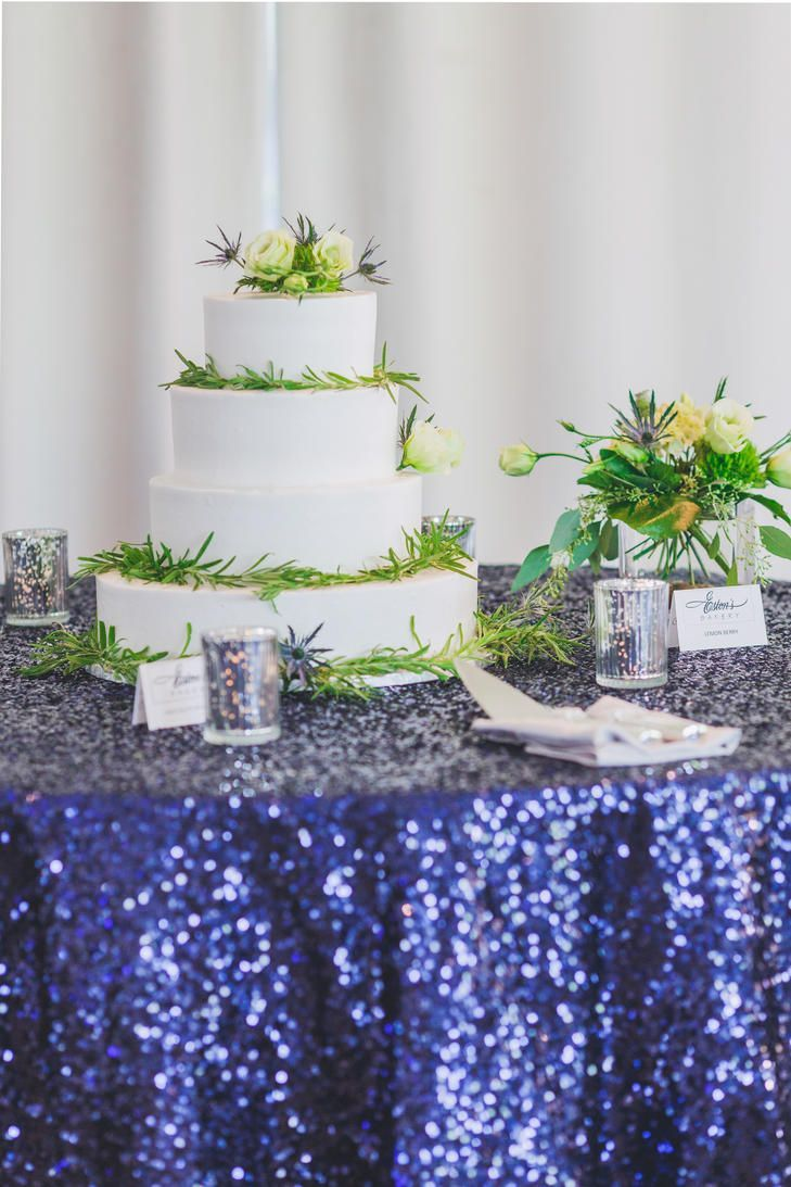 How Could You Miss This Elegant Four Tier Wedding Cake Wred In Greenery On Cakestoledo Ohiofl