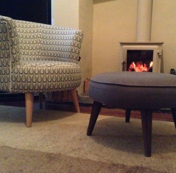 Der Sessel ist ein echter Hingucker in Wohn- oder Schlafzimmern.