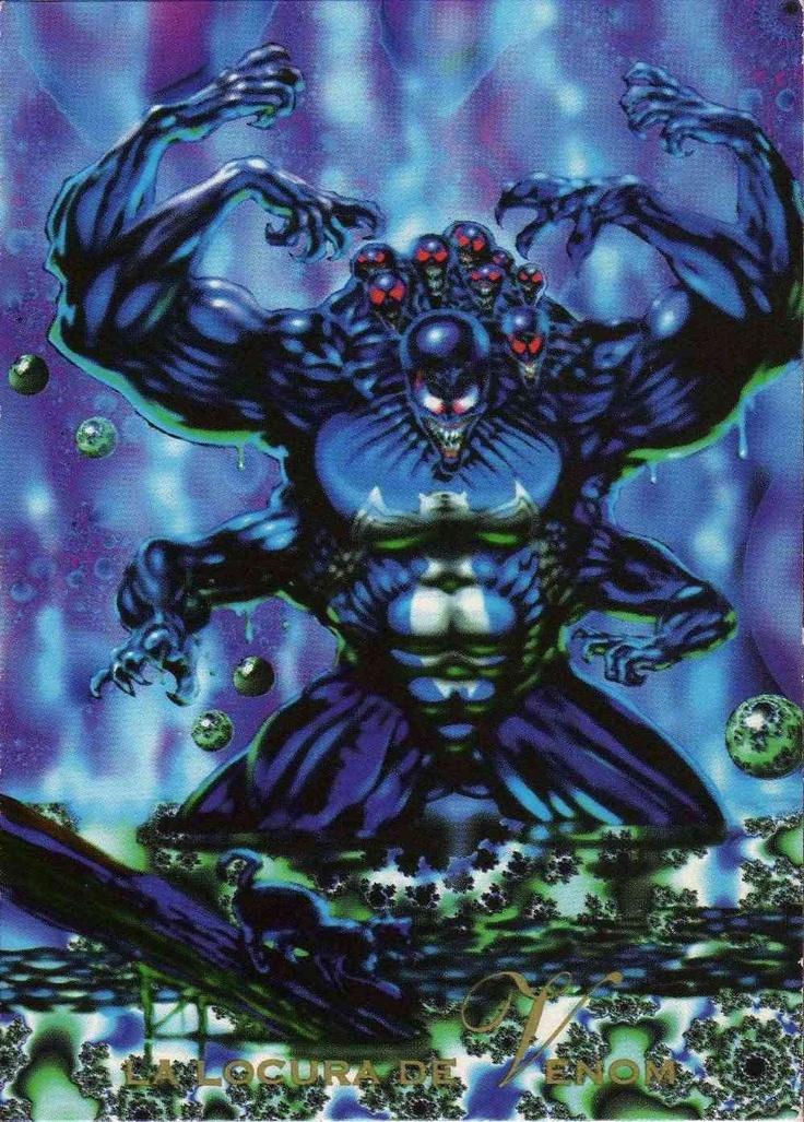 La Locura de Venom-Pepsi Cards   Uniéndose a un grupo ecologista que protestaba en contra del desecho ilegal de una compañía de químicos, Venom se tuvo que enfrentar al Supervillano Juggernaut. Noqueado dentro de una alberca de químicos, los cuales reaccionaron llevando tanto su psique humana como  la extraterrestre al punto de la locura, Venom descubrió nuevos usos para las habilidades simbioticas de su disfraz.