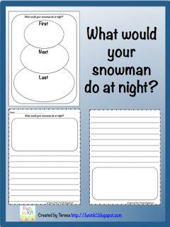 Classroom Freebies Too: Snowmen at Night