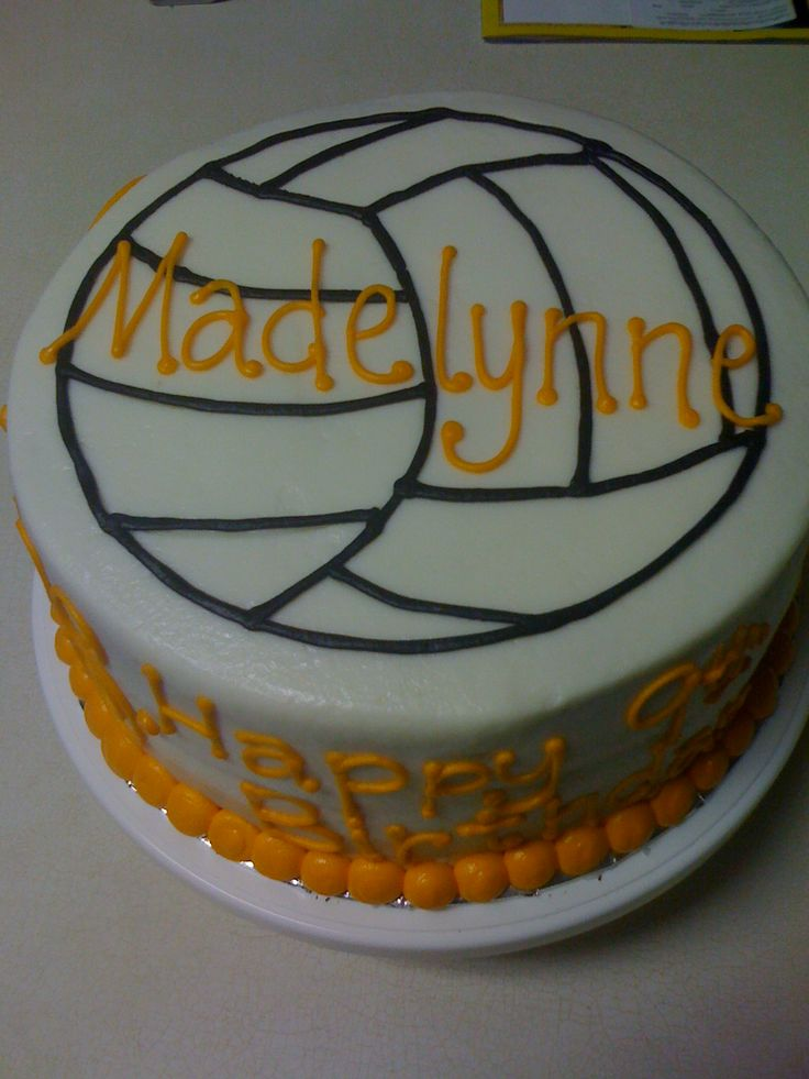 Volleyball Birthday Cake Ideas cakepins.com