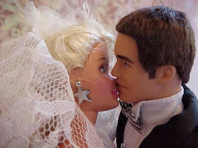 Seems me, Barbie and ken naked and kissing long time