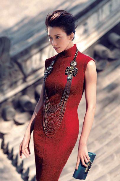 (5) Womens Dress in Red Lurex Wool Blend                              …
