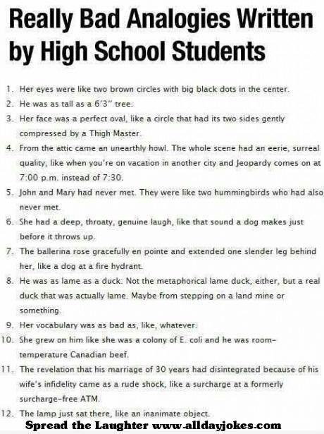 funny essays bad grammar
