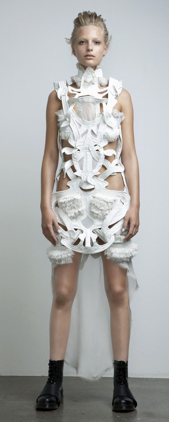 Intricate Interlocking Patterns - a mix of organic, alien and futuristic; sculptural symmetry; fashion meets art // Anne Sofie Madsen