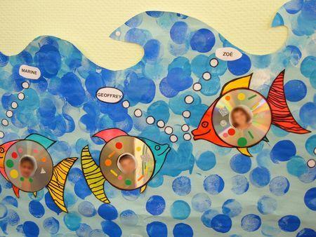 Décoration vestiaire poisson avec CD