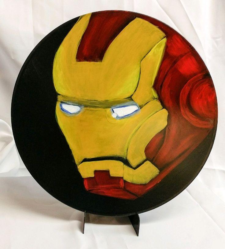 Iron man painting on vinyl