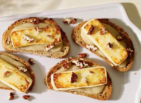 Pear, pecan and Queso Fresco appetizers #simplepleasures #CDNcheese