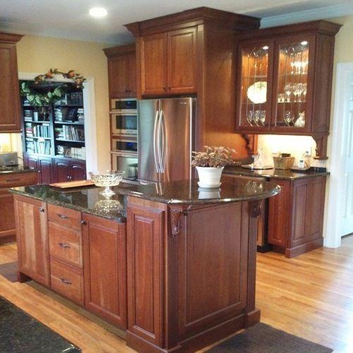 17 Best Ideas About Cherry Kitchen Cabinets On Pinterest