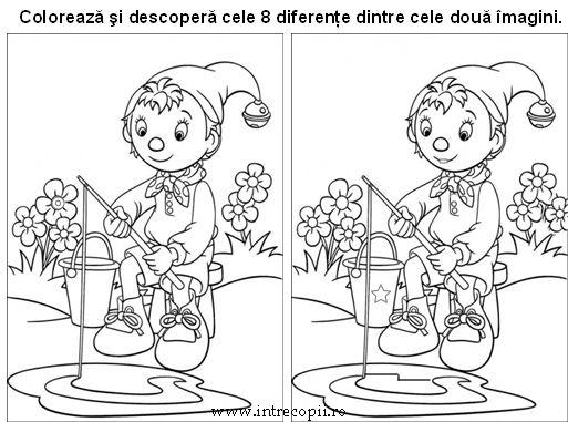 gaseşte diferenţele dintre cele doua imagini si coloreaza