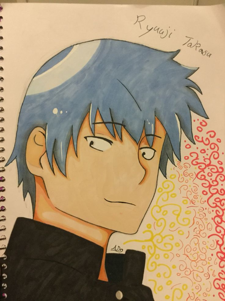 Ryuuji Takasu from Toradora, I took quite a while drawing this. I have too much time on my hands...