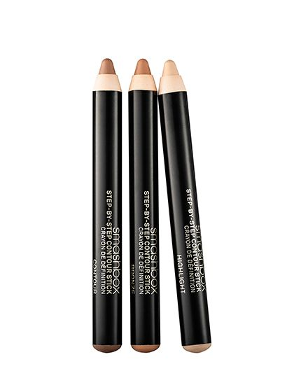 Smashbox Step-by-Step Contour Stick Trio:  These three skinny sticks are perfect for contouring detail work: You can easily draw lines down your nose or around your mouth without getting your whole face involved. Plus, the formula is creamy, leaving behind no harsh lines.