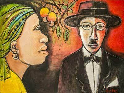 """Exposição de pintura """"Um olhar africano sobre Fernando Pessoa"""" de Lívio de Morais - Camões - Instituto da Cooperação e da Língua"""