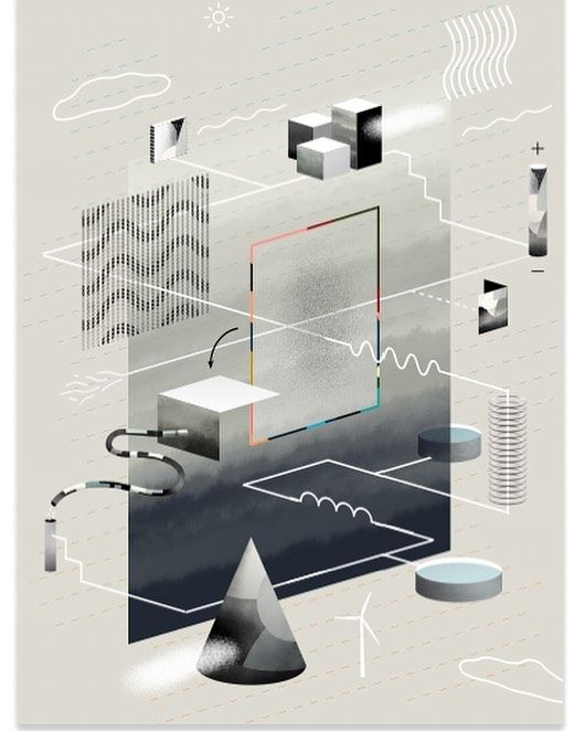 How do you visualize the complex and abstract components of electricity grids? Talented @hvasshannibal have illustrated the complex nature of energy production and consumption for the new FORESIGHT issue. Check out the special report accompanied by this beautiful illustration link in bio.  #illustration #abstract #magazine #design #electricity #grid #greenenergy #climatechange
