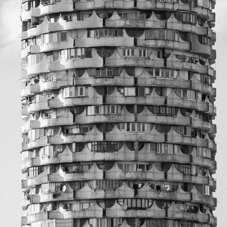 Romanita Collective Housing Tower, Chisinau, 1978-84 designed by O. vronski. Photo via socialistmodernism.com
