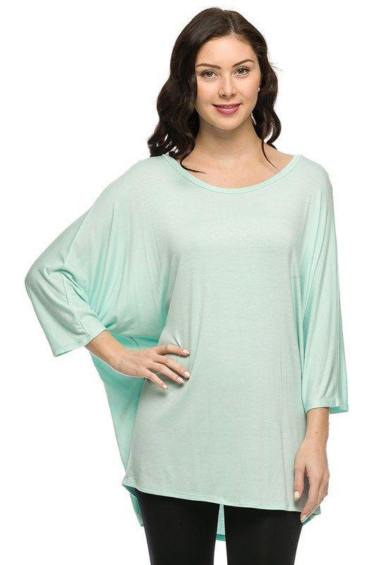 Kelly Brett Boutique: Women's Online Clothing Boutique - Plus Size Batwing Top Mint, $24.00 (http://www.kellybrettboutique.com/plus-size-batwing-top-mint/)
