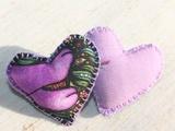 Hearts hair clip...