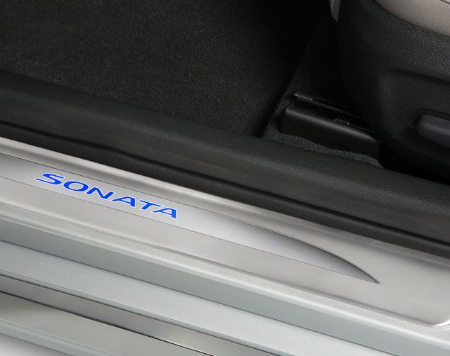 The Hyundai Sonata LED Door Sill Plates are complete replacements of the old door sills and are a beautiful upgrade that provides you with protection that helps to prevent scratches and scuffs! The Hyundai Sonata LED Door Sill Plates include 2 brand new scuff plates - one for the front driver door and one for the front passenger door!